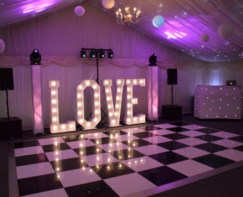 LOVE Letter hire - Shottle Hall Derby
