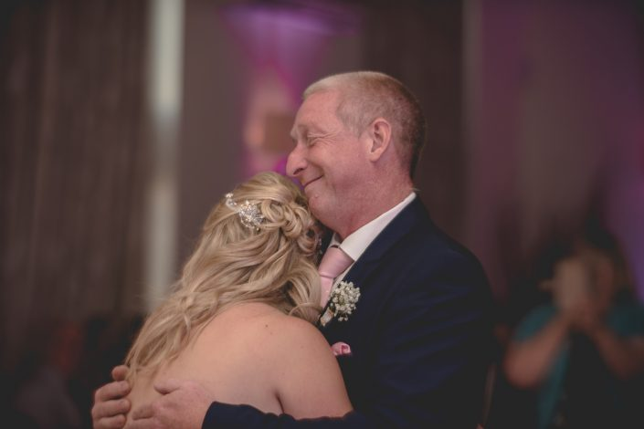 Father daughter moment with GC events UK - Wedding DJs