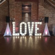 LED LOVE Letter Hire Burton upon Trent