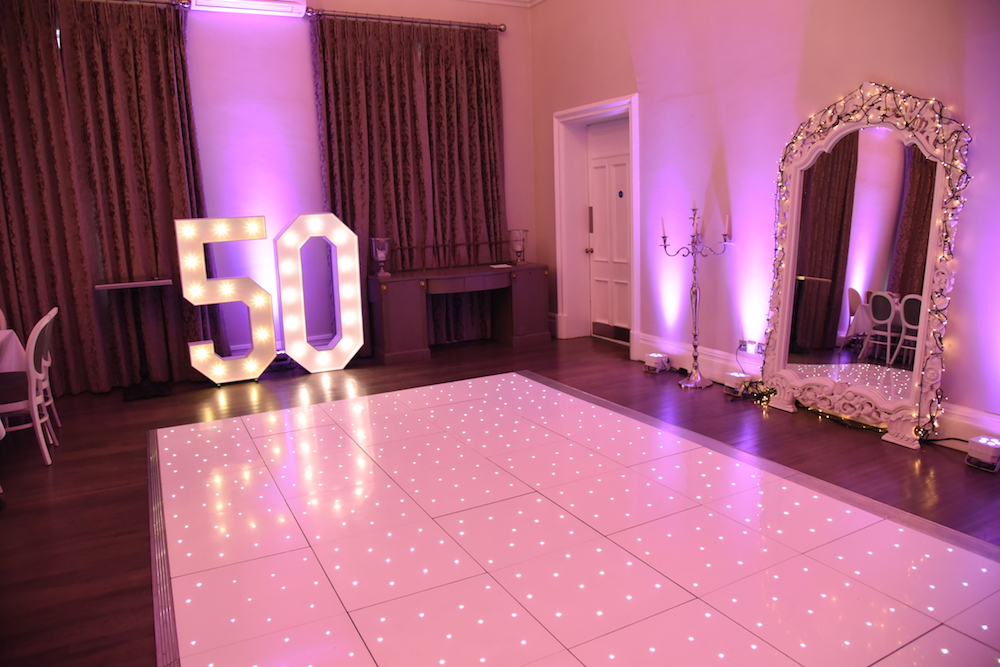 Starlight Dance Floor and LED Letters
