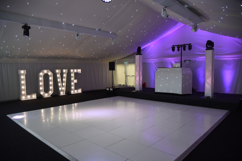 Wedding DJ and LOVE Letters - GC Events Derby