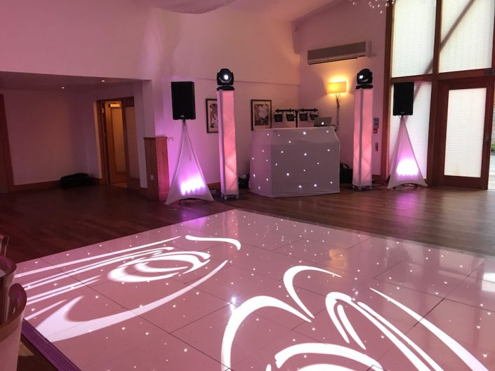 Starlight Dance Floor and Wedding DJ Hire Derby