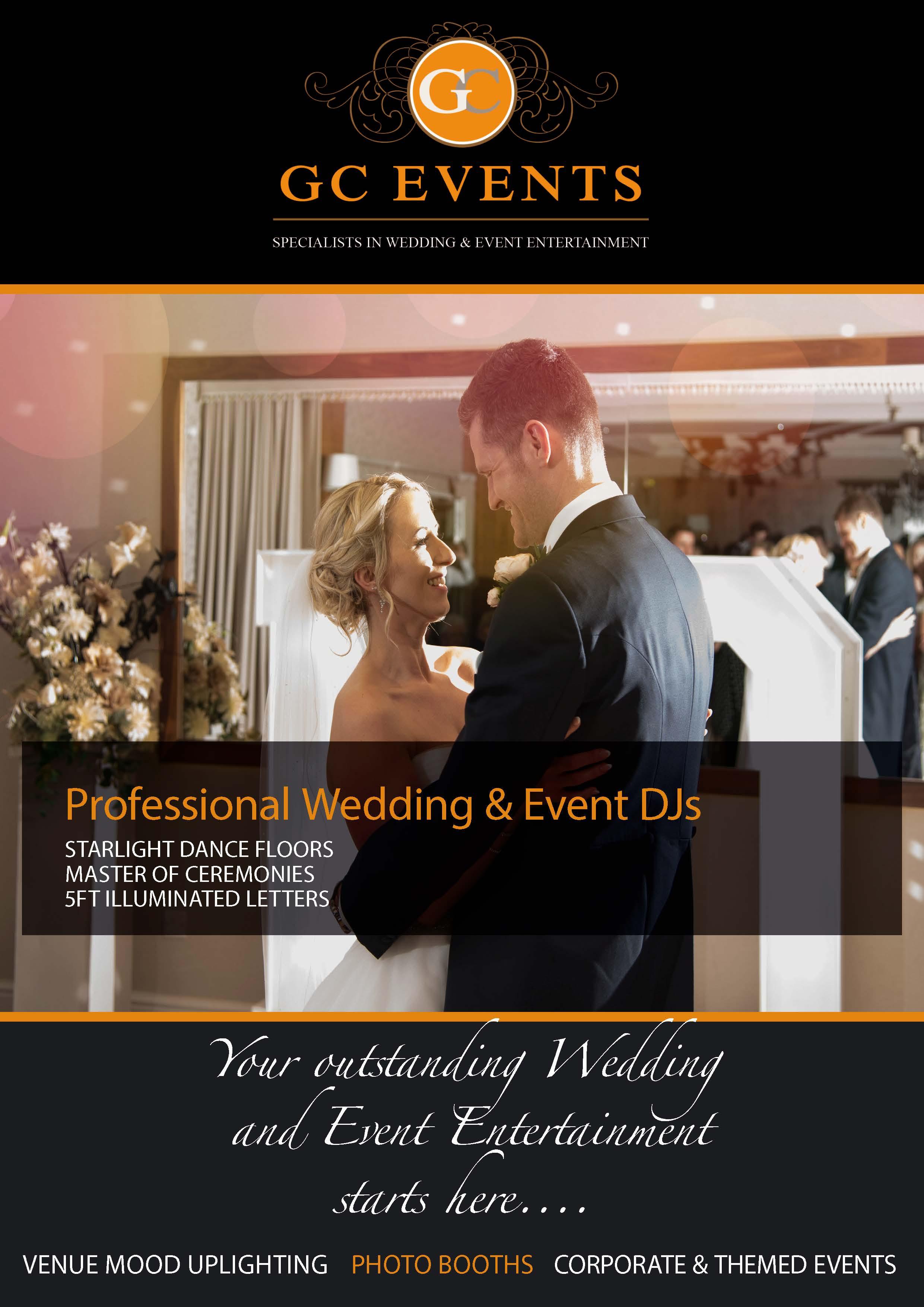 GC Events Wedding DJ Hire Derby 2017 Brochure