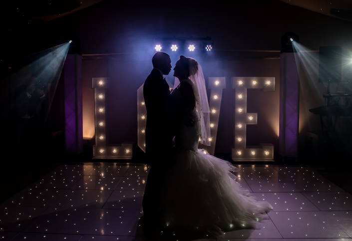 Bride & Groom at Shottle Hall with GC Events DJ